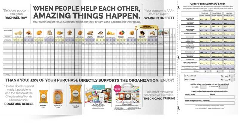 Fundraising with Brochure Order Form Popcorn Fundraisers
